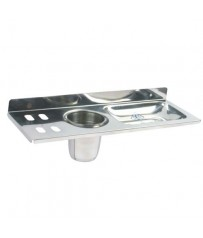 SHRUTI (Nikku) Stainless Steel Soap dish / Tooth Paste Case / Tooth Brush Holder / Soap tray / Soap Rack