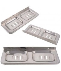 SS Square Classic Double Soap Dish