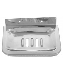 SS Heavy Duty Classic Single Square Soap Dish