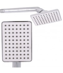 "3"" New Square Single Flow ABS Shower Head with Steel Round Shower Head"