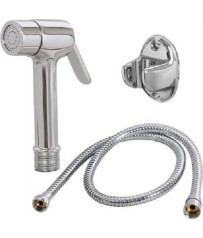 Brass Health faucet With  Pvc Trans. Silver Flexible Long Shower Tube Full set