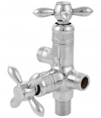 Briny Model Two way angle cock/taps with wall Flange