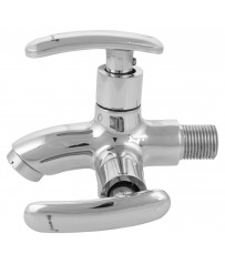 Mestro Model Two way stop cock/taps with wall Flange
