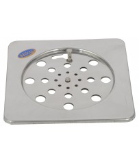 """Stainless 2 Pic Lock Jali / Drain Cover 6"""" x 6"""""""