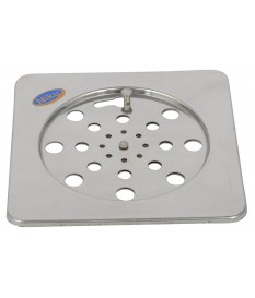 "Stainless 2 Pic Lock Jali / Drain Cover 6"" x 6"""